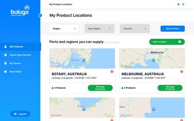Port Supply locations screenshot  Image: Bulugo