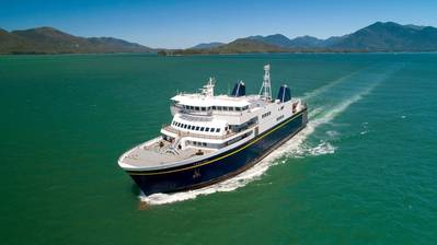 The Tazlina, one of many Alaska Marine Highway System ferries idled - greatly inconveniencing the general public - by the nine-day labor strike; one which was characterized as 'illegal' by Governor Mike Dunleavy's administration. Image: Vigor / State of Alaska