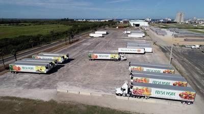 Trailers move through Port Manatee's newly opened transfer facility (Photo: Port Manatee)