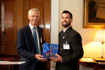 Tristan Greaney and Sir Alan Massey (Photo: MCA)