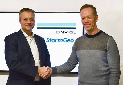 Trond Hodne, SVP at DNV GL – Maritime (left), and Per-Olof Schroeder, CEO, StormGeo.