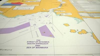 Turkish Straits Routeing: Image courtesy of UKHO