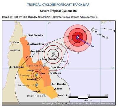 Map update courtesy of Australian Bureau of Metrology