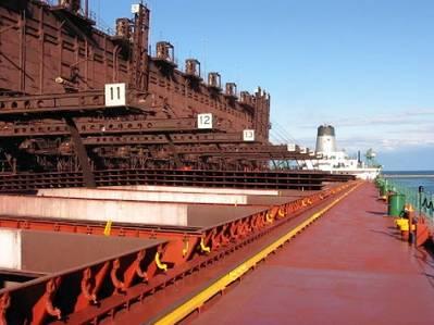 U.S.-flag laker loading iron ore at Two Harbors, Minnesota.  (Photo: LCA)