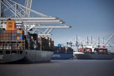 Vessel operations, terminal services and Monday-Friday truck gate hours continue as normal at Georgia's ports. Find print quality images here.(Georgia Ports Authority / Stephen B. Morton)