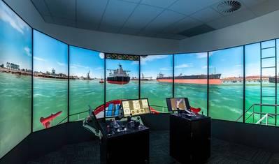 HR Wallingford's newly built tug bridge simulator (Photo: HR Wallingford)