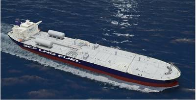 World's first LNG-powered crude oil tanker (courtesy of SCF Group)