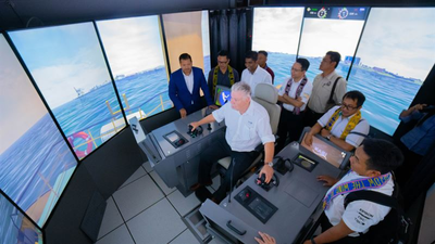 The Wärtsilä LNG Bunkering Vessel simulator will enable realistic hands-on training for operators. Copyright: Kasi Group