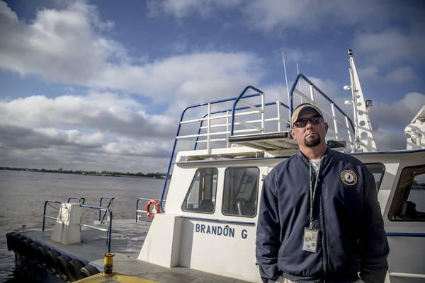Dillon Entrekin, port engineer at Louisiana's Belle Chasse Marine Transportation.
