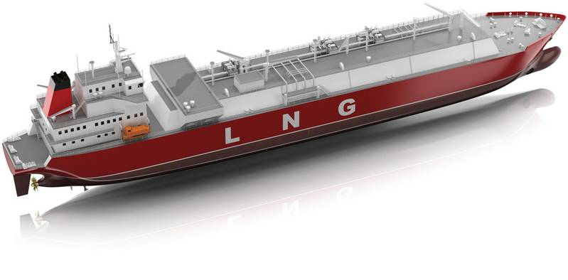 160,000 cu. m. capacity LNG carriers that have been ordered by an American Gas major from Samsung Heavy Industries (SHI)