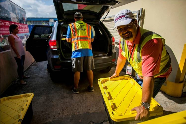 More than 50,000 pounds of relief supplies were donated by our Jacksonville employees on September, 29, 2017. Crowley shipped the bins to San Juan, Puerto Rico, where they were distributed by Crowley Logistics Guaynabo warehouse employees Photo Crowley Maritime Corp.