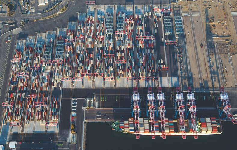 LBCT 1st Ship Aerials (Photo: Port of Long Beach)