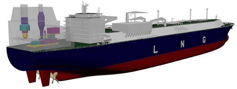 artist rendering of the GE/DSIC LNG carrier