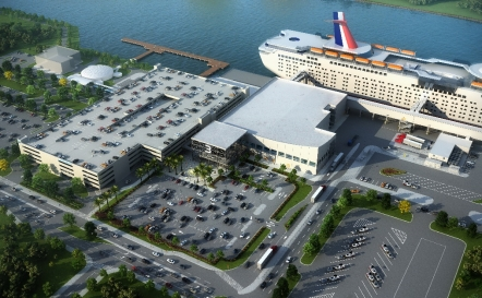 Artist's rendering of new Cruise Terminal 3 Photo: Canaveral Port Authority