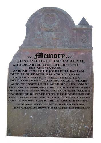 Bell's gravestone