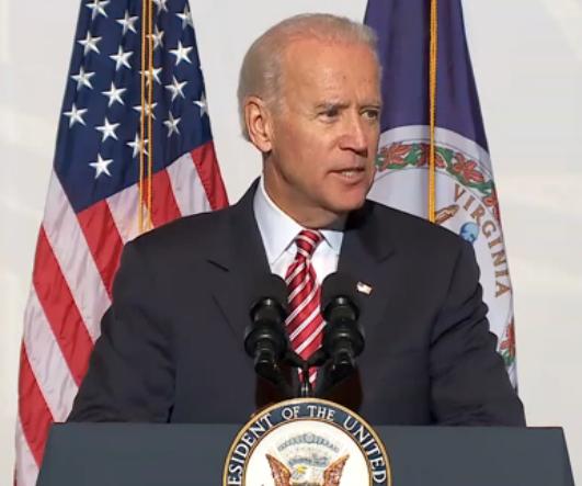 VP Biden speaks at the Port of Virginia (DOT photo)
