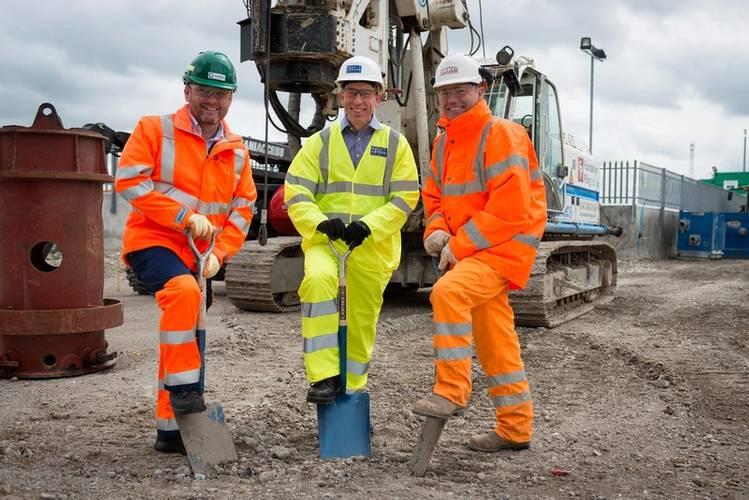 Ian Bowhill Tarmac, Distribution Manager, Robin Mortimer, PLA Chief Executive, Mark Tooley Breheny Construction Director (Photo: PLA)