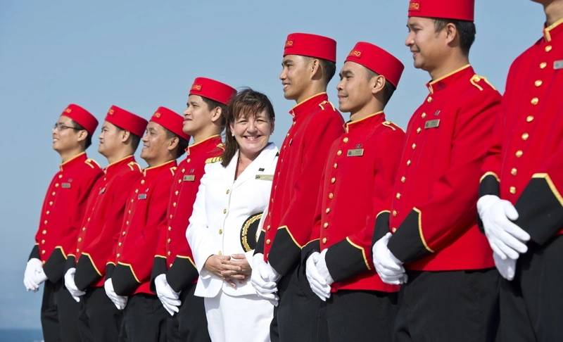 Captain Inger Klein Thorhauge, who helms Cunard ships, is among women with prominent roles at Carnival Corporation. (Photo: Cunard)
