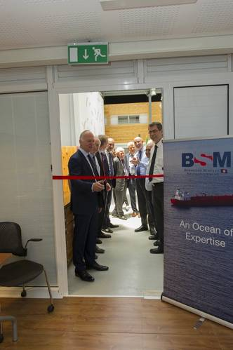 Captain Norbert Aschmann CEO at BSM launching the new simulators at BSM MTC Cyprus (Photo: Bernhard Schulte Shipmanagement)