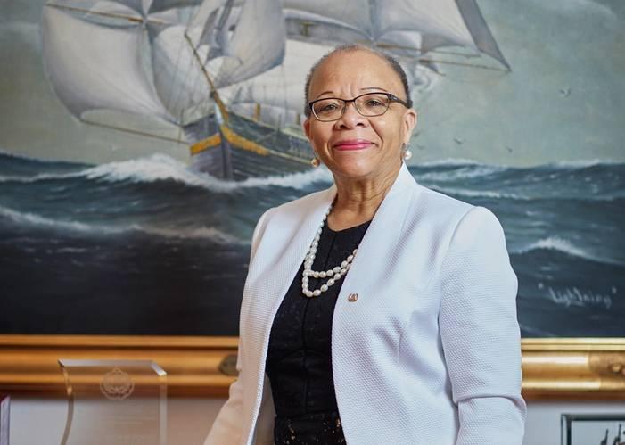 Dr. Cleopatra Doumbia-Henry, president of the World Maritime University (WMU) in Sweden. © Christoffer Lomfors