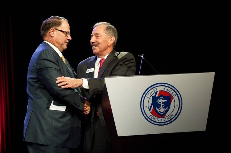 Coast Guard Foundation Chairman and American Bureau of Shipping (ABS) Director, Will Jenkins introduced Mr. Bouchard. (Photo: Coast Guard Foundation)