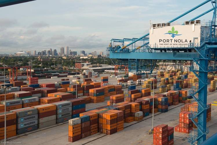 Container Operations in the Port of New Orleans (CREDIT: Port NOLA)