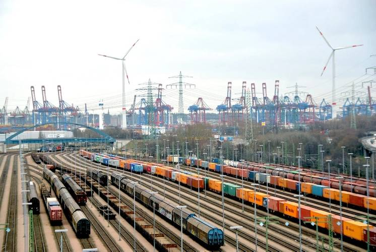Container Rail Terminal Alte Süderelbe (Photo: Port of Hamburg)