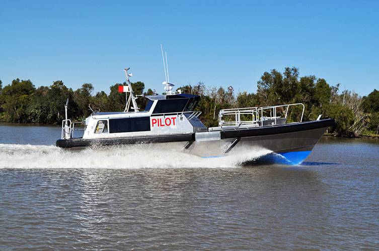 Custom Bill Preston-designed 45' aluminum pilot boat built by Metal Shark for the Canaveral Pilots. (Photo: Metal Shark)