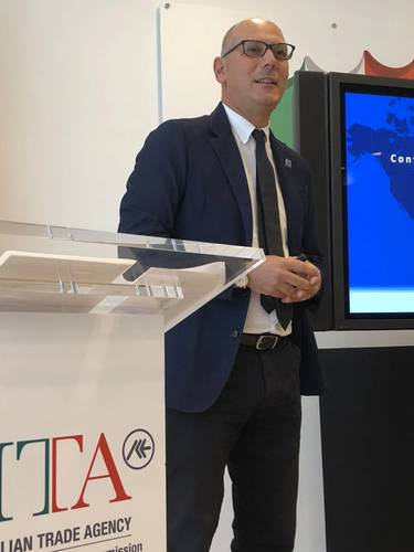 Daniele Testi, Marketing and Corporate Communications Director, Contship Italia. (Photo: Greg Trauthwein)