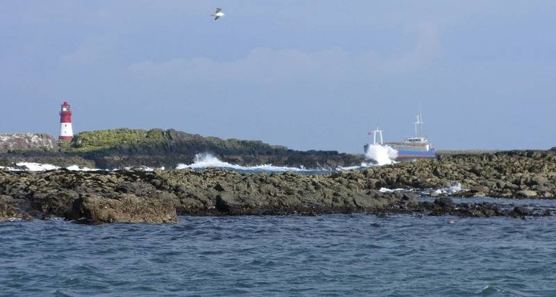 MV Danio grounded (Photo: U.K. Maritime and Coastguard Agency)