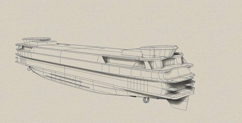 Drawings of the innovative TESO Ferry Texelstroom. Image Courtesy C-Job