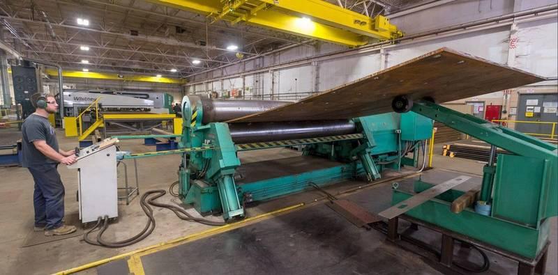 Fabrication at  Ingalls Shipbuilding Photo USN