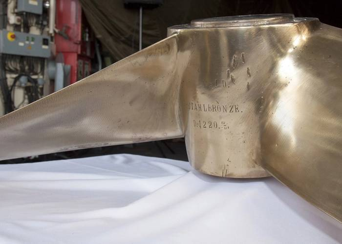 The German submarine propeller was returned to its rightful owner after more than a century (Photo: MCA)