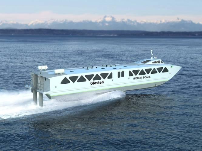 Glosten/Bieker Foil Ferry. Image courtesy Glosten