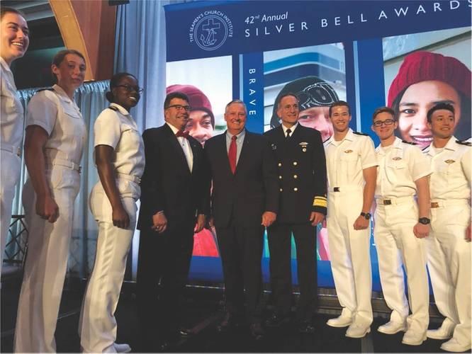RADM Greene (center) Receives Lifetime Achievement Award. Image: TOTE
