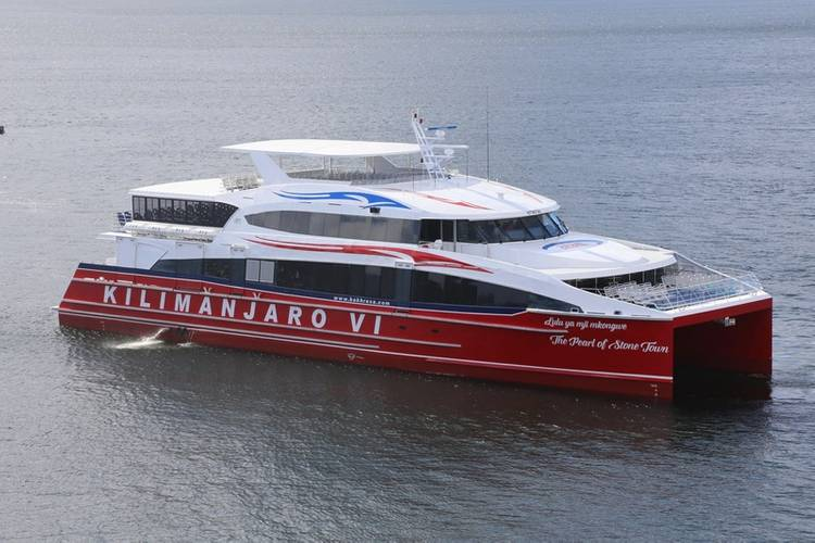 Incat Crowther-designed vessel Kilimanjaro VI – one of eight vessels designed by the firm operating in Tanzania, Africa Photo Incat Crowther