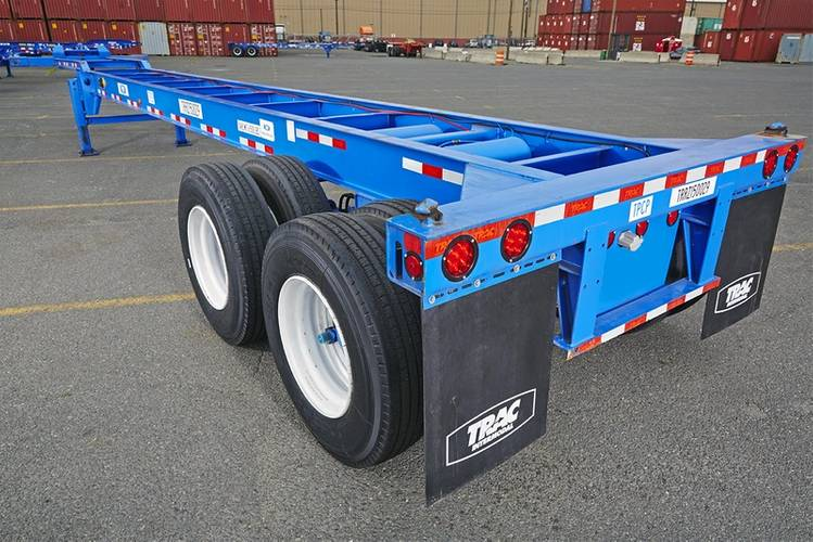 A TRAC Intermodal refurbished Chassis (TRAC)