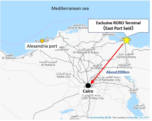 Location of East Port Said (Photo: NYK Line)