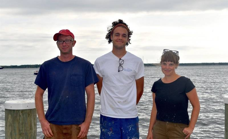 From left, Michael Allen, Spencer Sherwood, and Lauren Gaunt (Photo: The Chesapeake Bay Maritime Museum)