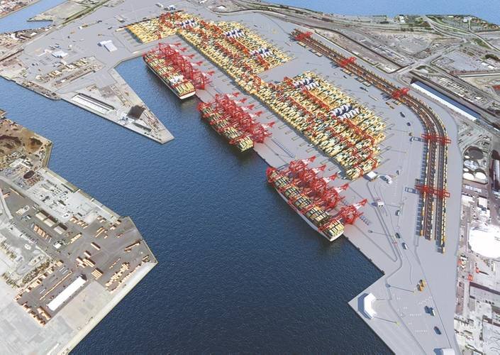 Middle Harbor Rendering (Photo: Port of Long Beach)