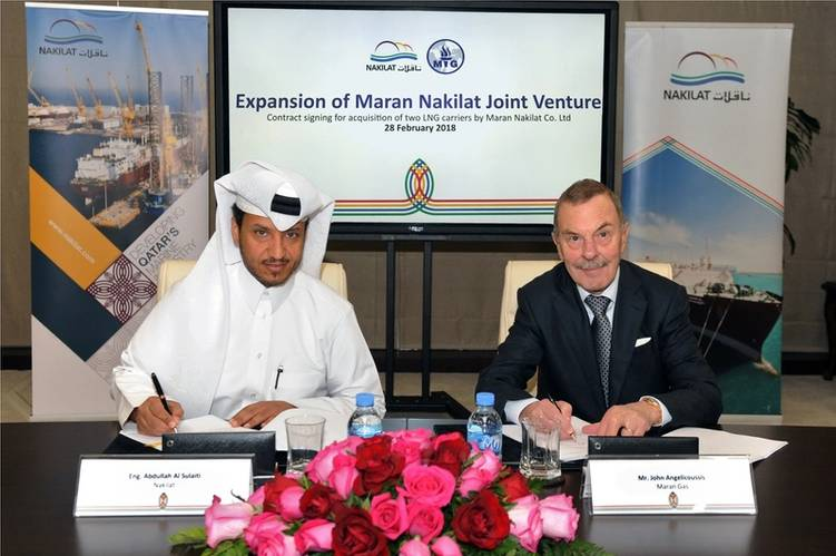 Nakilat expands joint venture partnership with Maran Ventures Courtesy of  Nakilat PR