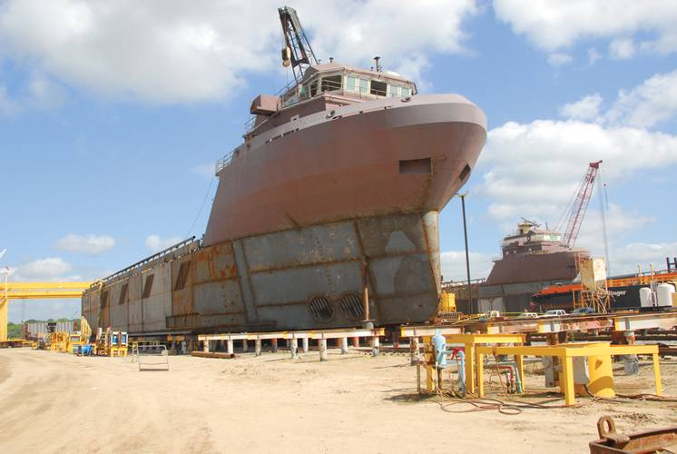 Ongoing operations at one of Bollinger's many shipyards.
