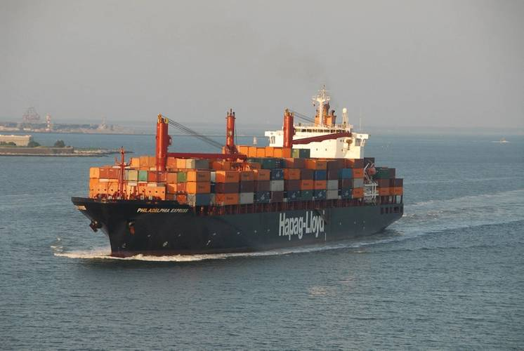 The 'Philadelphia Express' is a Marine Transport Management controlled vessel. MTM is a Crowley Company.