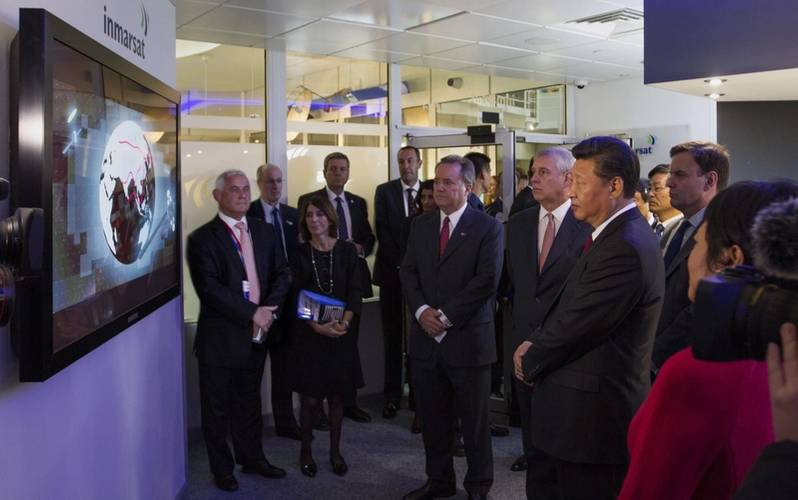 President Xi at Immarsat Headquarters