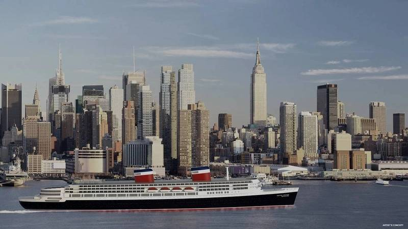 A rendering shows a restored SS United States by Crystal Cruises (Image: Crystal Cruises)