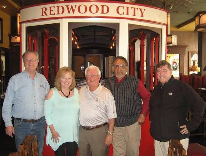 From left to right: Commissioner Ralph Garcia, Rita Artist, Commissioner Dick Dodge, Santiago Talamantes, Commission Chair Dick Claire (Photo: Port of Redwood City)