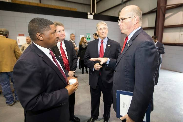 Left to right: Dr. Shawn Wilson, Secretary of the Louisiana Department of Transportation and Development; Jay Hardman, Executive Director of the Port of Greater Baton Rouge; Gary LaGrange, President and CEO of the Port of New Orleans; and U.S. Department of Transportation Maritime Administrator Paul 'Chip' Jaenichen. (Photo: Port of New Orleans)