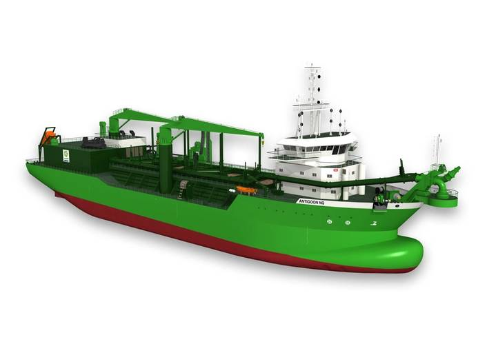 The Scheldt River will be the world's first dual-fuelled dredger.