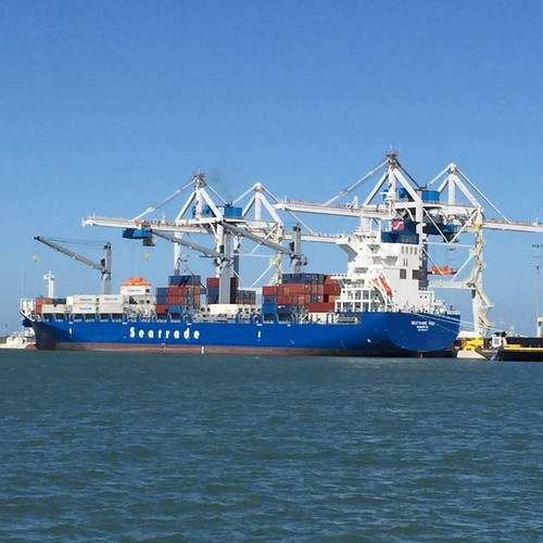 M.V. Seatrade Red calls at the Canaveral Cargo Terminal at Port Canaveral in Florida. (Photo: GT USA)