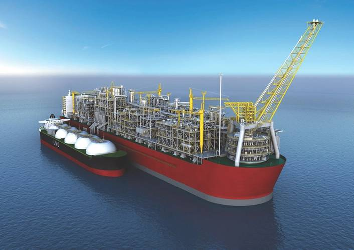 Shell is building the world's first floating liquefied natural gas facility (FLNG), which has the potential to revolutionize the way natural gas resources are developed and to unlock vital energy resources offshore. (Image: Shell)